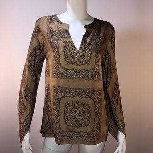 "Theory Silk ""Normie"" Print Tunic"
